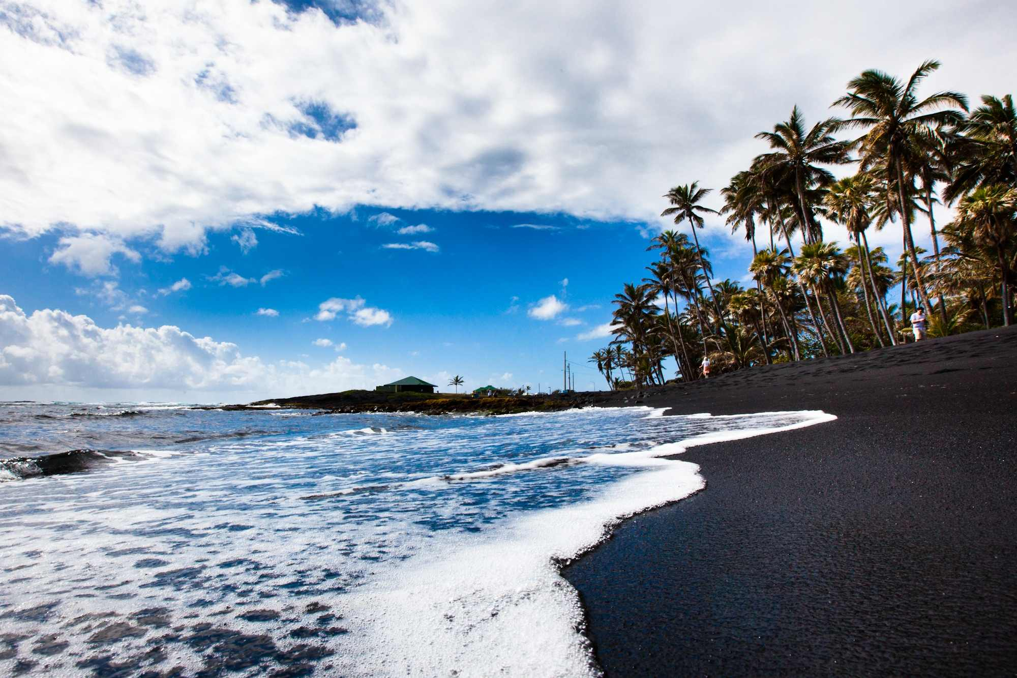 Big island grand circle island tour punalu 39 u black sand Black sand beach hawaii